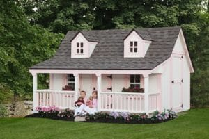 a pink children's playhouse from Ulrich