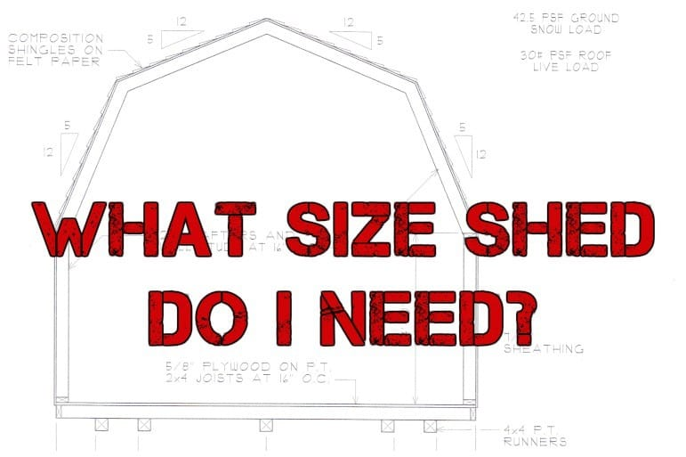 What size shed do I need?