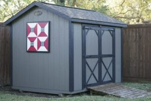 Ulrich shed with barn quilt