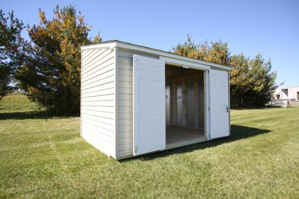 Lean-To Shed Doors Open