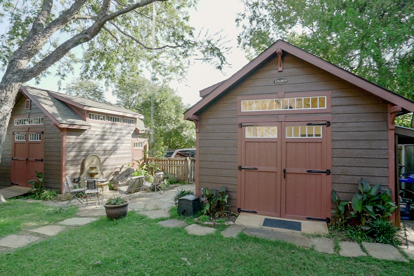 Twin Workshop Shed and Storage Shed